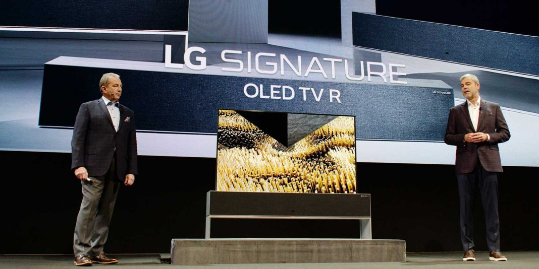 Rollable OLED TV R