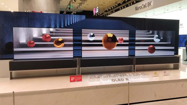 LG ROLLABLE OLED TV RX shop