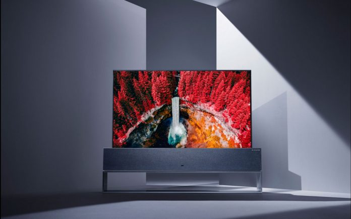 LG's rollable OLED TV